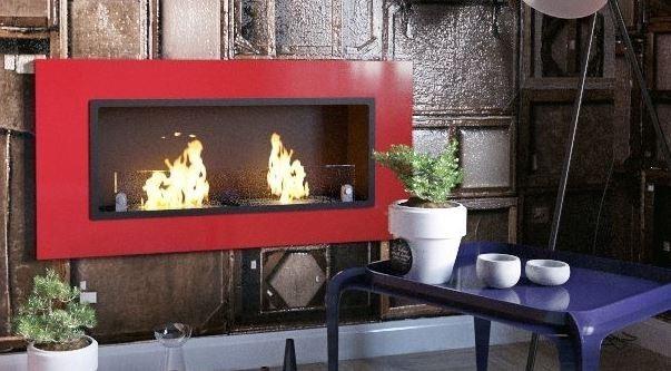 Biocamino - 6 kw Mod 2 Burner Udine Camino da parete