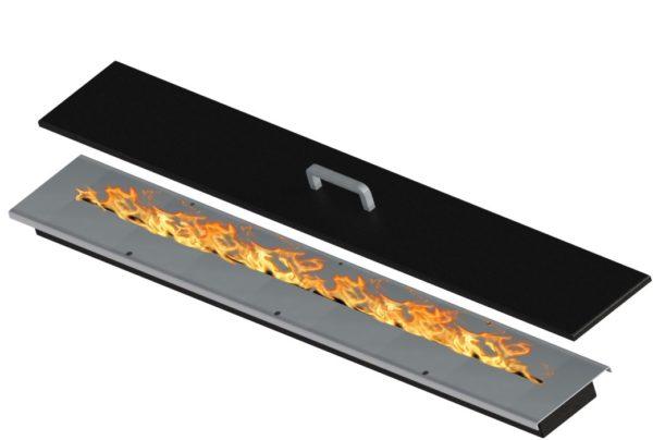 Bruciatore David da 93 cm x 10 cm - 5 kw per biocamini 90