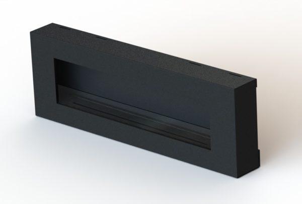 Biocamino Flat Pro 120 cm - Camino al bioetanolo con vetro nero