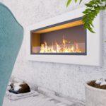 Biocamino mod Globo Bianco da 150 cm con 10 bruciatori - con vetro